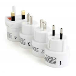 Gembird universal travel adapter plug set TPA-03