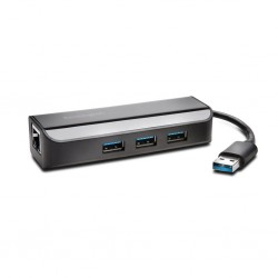 Kensington UA3000E USB 3.0 to Ethernet Adapteris su Usb šakotuvu