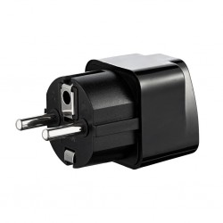 Akyga Travel Adapter AC AK-AD-48 US / AU / UK to EU black