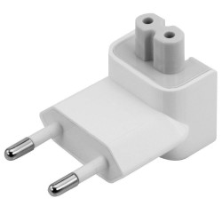 Akyga EU replacement plug AK-AD-60 Duckhead Apple MagSafe CEE 7/16 to C7 white